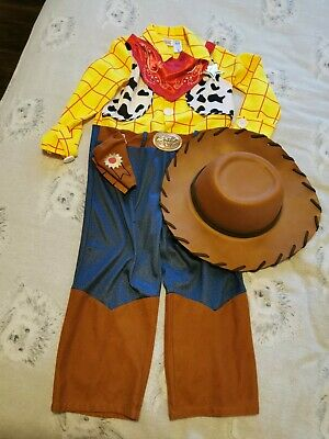 Toy Story Woody 5-6 Complete Dressing Up Fancy Dress Outfit Costume • 3£