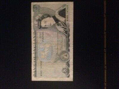 Bank Of England Old £5 Five Pound Note Series D - Duke Of Wellington - John Page • 8.25£