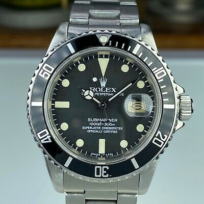 $ CDN12338.62 • Buy 1981 Vintage Rolex Submariner 16800 Matte Dial