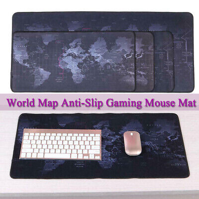 World Map Anti-Slip Gaming Mouse Mat Natural Rubber Pad Computer Keyboard Desk  • 4.46£