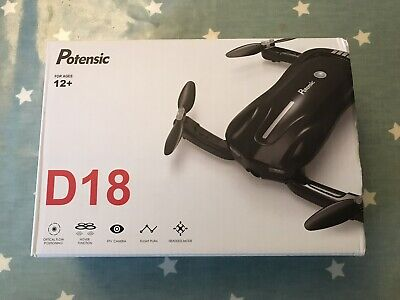 Potensic D18 Foldable Drone 1080P Camera Beginners WiFi Kids Adults FPV Quad • 19£