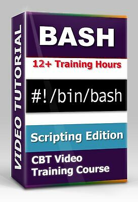 £3.61 • Buy BASH Scripting Edition - CBT Video Training Course - 12+ Hours Of Video Training
