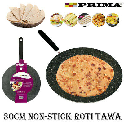 New 30cm Non Stick Crepe Pan Dosa Tawa Roti Cooking Kitchen Pancake Flat Bread  • 9.95£