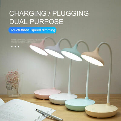 AU16.69 • Buy Touch Sensor Dimmable USB Powered LED Desk Table Bedside Reading Lamp Light AU#.