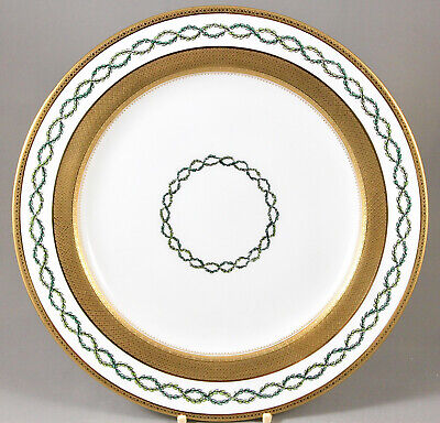 Antique Minton China Laurel Leaf Tooled Gilt Dinner - Cabinet Plate G9982 C.1870 • 75£