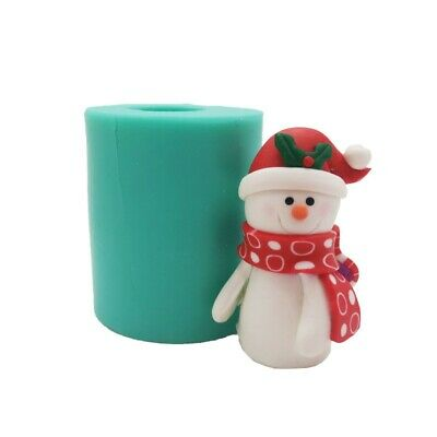 £4.99 • Buy 3D Christmas Snowman Silicone Cake Fondant Mold Wax Soap Candle Making Mould DIY