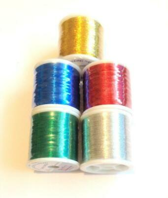 Pac Bay Metallic Rod Whipping Thread Grade A Continuous Multi-Filament 1 Spool • 7.99£
