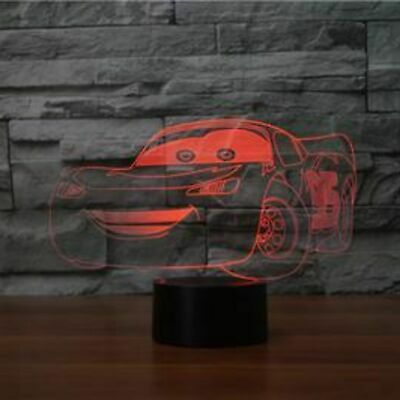 Disney Cars Illusion LED Lamp, 3D Light Experience - 7 Colors Options • 13.86£