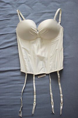 La Senza Women's Ladies Ivory Pleated Bandeau Basque Size 34C New With Tags NWT • 14.99£