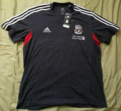 ADIDAS Men's Grey Official Liverpool LFC T-Shirt Size L Large New With Tags • 29.99£