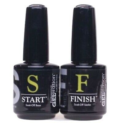 Jessica Geleration Start & Finish Duo Soak-Off UV/LED Nail Gel (2 Bottles) • 32.95£