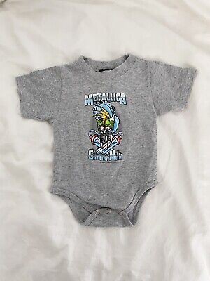 £14.55 • Buy Metallica Gimme Milk Officially Licensed 2000 Giant Tag 12 Months Baby Bodysuit
