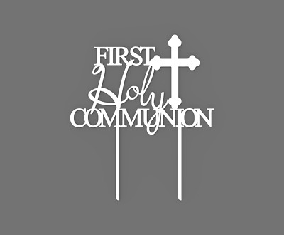 First Holy Communion Cake Topper 60050 Plastic Party Decor • 5.49£