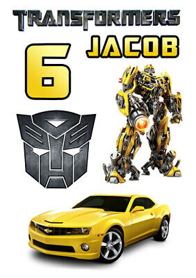 Personalized Transformers Set Of Decoration ICING WAFER Edible Cake Topper A4 • 5.64£