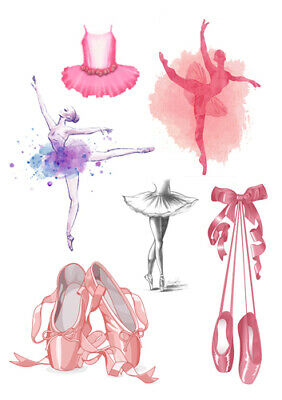Ballet Shoes Tutu Dance Set Of Decorations ICING WAFER Edible Cake Topper A4 • 5.99£