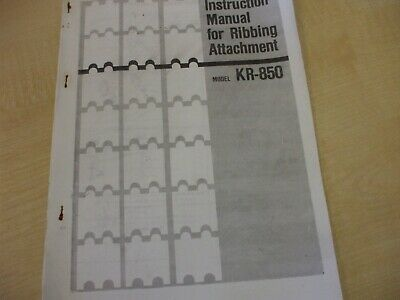 £3 • Buy Brother Knitting Machine  KR850 User Manual Copy Used