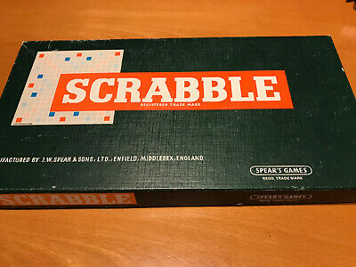 VINTAGE SPEAR'S SCRABBLE BOARD GAME 1955 Version • 2.90£