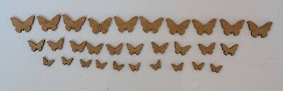 Wooden MDF Butterfly Craft Shapes X 30 Embellishments 10-15-20mm • 1.99£