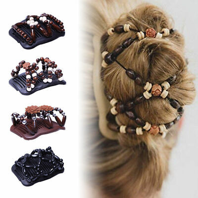 Ladies Magic Beads Stretch Double Hair Comb Clip Hairpin Slide Clip UK SELLER  • 3.78£
