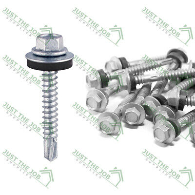 £5.14 • Buy Self Drilling Screws For Light Section Steel - ZINC W/EPDM Washer -METAL ROOFING