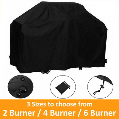 AU23.95 • Buy BBQ Cover 2/4/6 Burner Waterproof Outdoor Gas Charcoal Barbecue Grill Cover
