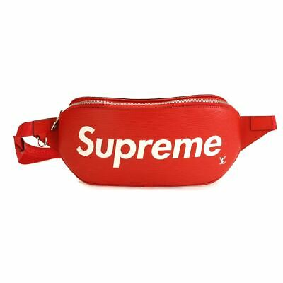 $ CDN7832.59 • Buy LOUIS VUITTON Supreme Epi Bum Bag Body Bag Red M53418 Purse 90099941