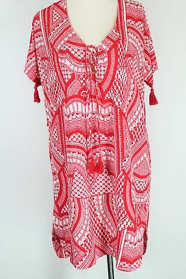 AU33.95 • Buy Tigerlily Red & White Stretch Casual Dress - As New - S (10/12)