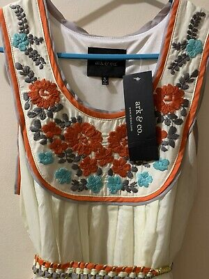 AU33 • Buy BNWT Embroidered Arc&Co Dress Size Small 8 10 Retro Vintage 50s Urban Outfitters