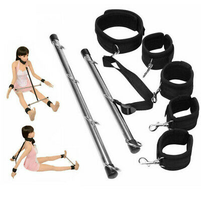 Lockable Bondage Hand Spreader Bar Wrist Ankle Cuffs Play Restraints Toy UK • 15.99£