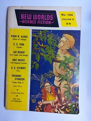 New Worlds Science Fiction No. 104,  March 1961 Published By Nova Publications • 8.99£
