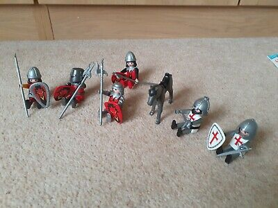 Playmobil Knights With Weapons X 6 And 1 Horse • 4.20£