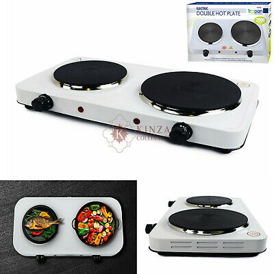 £20.99 • Buy New 2.5Kw Portable Electric Hot Plate Double Ring Table Top Kitchen Cooker Stove