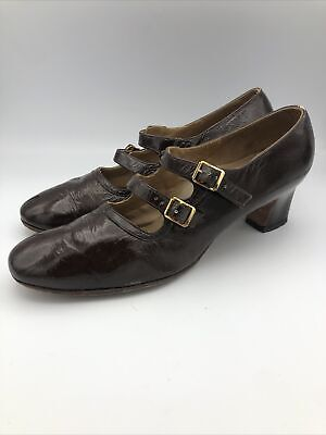 AU154.46 • Buy Vintage Dr. Locke 1940's Woman's Brown Buckle Up Shoes - Size 10 B