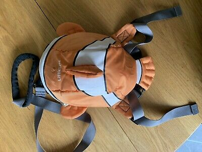 Littlelife Toddler Backpack With Reins Clown Fish/Nemo Design • 3£