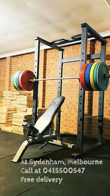 AU2600 • Buy Power Rack , Adjustable Bench 7ft 20kg Barbell With 150kg Rubber Bumper Plate