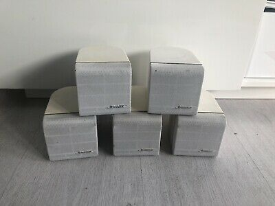 5 X Bose Acoustimass Single Cube Speaker White Lifestyle • 116.99£