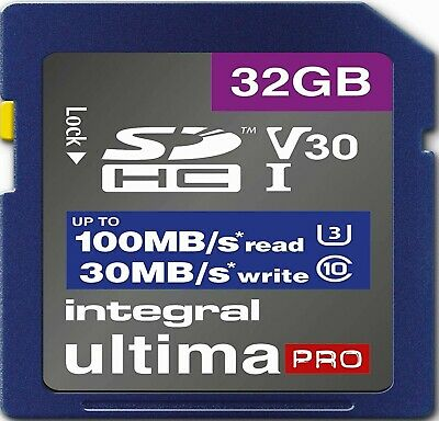 32GB SD Card U3 Memory For OLYMPUS OM-D E-M1X,E-M5,E-5 II,E-5 III Camera (4K) • 7.49£