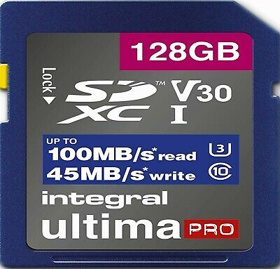 128GB SD Card U3 Memory For OLYMPUS OM-D E-M1X,E-M5,E-5 II,E-5 III Camera (4K) • 23.99£