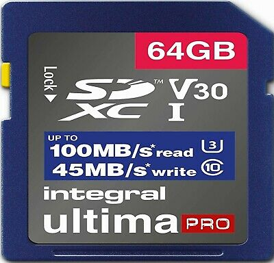 64GB SD Card U3 Memory For OLYMPUS OM-D E-M1X,E-M5,E-5 II,E-5 III Camera (4K) • 10.99£