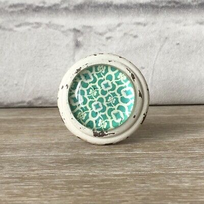£6.29 • Buy Large Shabby Chic Moroccan Vintage Cream Turquoise Door Knobs Handle Drawer Pull