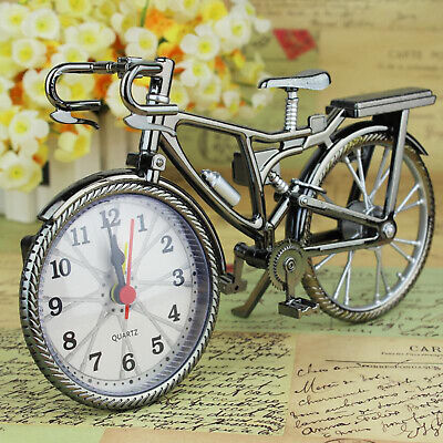Creative Table Clock Cool Alarm Clock Bicycle Shape Works Of Art Home Decor • 6.07£
