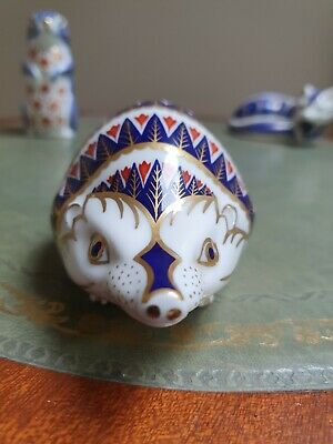 £40 • Buy Royal Crown Derby Paperweight Gold Stopper Hedgehog