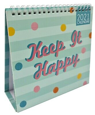 2021 Month To View Desk Calendar Home Office Table Work Planner KEEP IT HAPPY • 3.29£