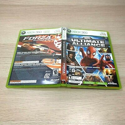 £7.31 • Buy Xbox 360 Marvel: Ultimate Alliance & Forza Motorsport 2 Double Feature Complete