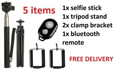 Telescopic Selfie Stick Bluetooth Tripod Monopod Phone Holder For IPhone Android • 5.49£
