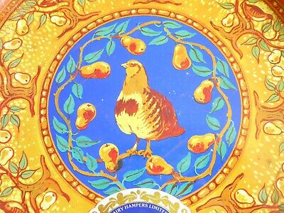 Sweet Vintage Confectionery Tin With Partridge Motif • 5.50£