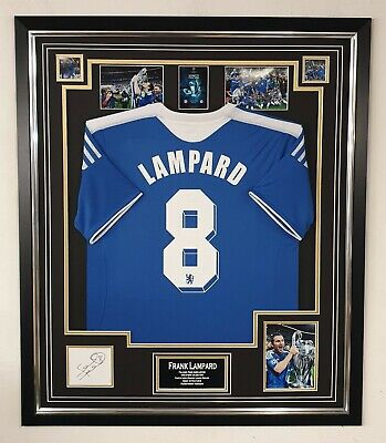 Frank Lampard Signed Display With 2012 Chelsea Shirt Autographed Item • 395£