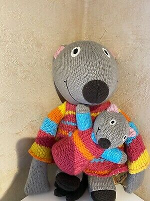 Latitude Enfant Mouse & Mouseling Wooly Knit Plush Toy Doll 12  France VGC • 15.67£