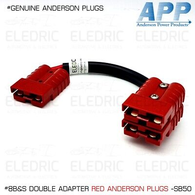 AU28.50 • Buy Red Genuine Anderson Plug Double Adapter Lead 8b&s Twin Cable 12v App X1 Sb50