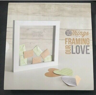 Things I Love About You Wooden Frame Love Notes Envelopes Thoughtful Gift Decor • 5£